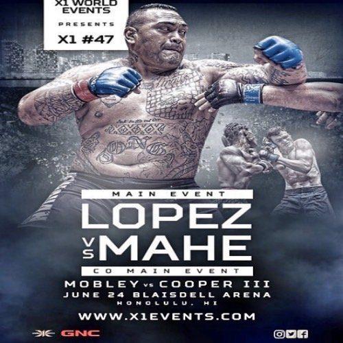 Lopez vs Mahe June 24 X1 World Events