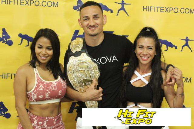 photo with Max Holloway - Hawaii Cannabis Expo 2017